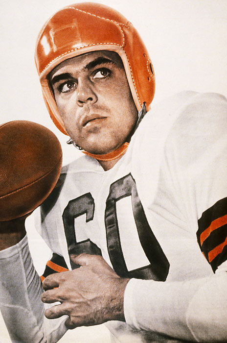 Paul Brown's perfect quarterback: Under Graham the Browns played in 10 straight titles games and won four AAFC and three NFL Championships.<br><br>Runner-up: Chuck Bednarik.