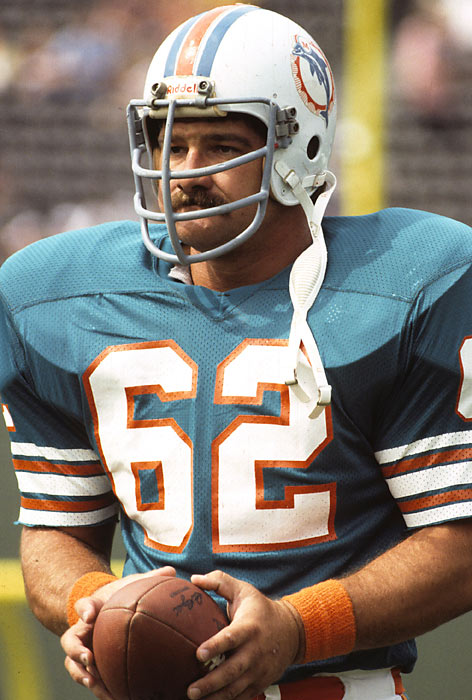 One of the finest centers in NFL history, he anchored the Dolphins line during the 1970s. Langer was named All-Pro six straight years, from 1973 to 1977.<br><br>Runner-up: Guy McIntyre.