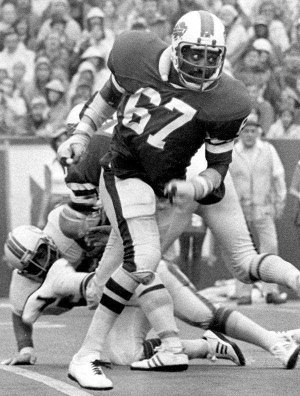"Part of Buffalo's famed ""Electric Company"" line that blocked for O.J. Simpson, McKenzie was a standout offensive lineman for 13 seasons for the Bills and Seahawks.  <br><br>Runner-up: Bob Kuechenberg. <br><br>Worthy of consideration: Russell Maryland."