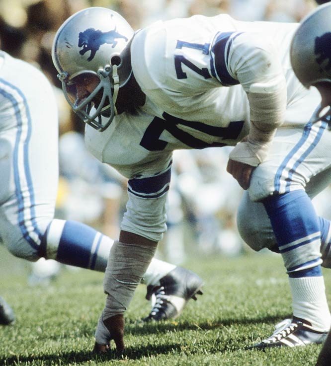 "The fiesty lineman played 12 seasons for the Lions and was an All-Pro selection four times before retiring for a career in Hollywood and the immortal line, ""Mongo only pawn in game of life.""<br><br>Runner-up: Tony Boselli.<br><br>Worthy of consideration: Charles Mann."