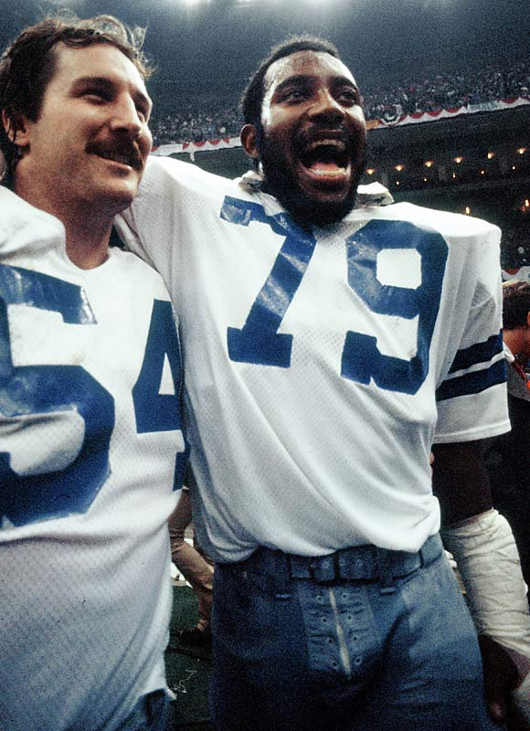 Ferocious pass-rushing defensive end was a four-time Pro Bowl pick and co-MVP of Super Bowl XII with tackle Randy White. His 114 career sacks remain tops among all Cowboy defenders.<br><br>Runner-up: Bob St. Claire.<br><br>Worthy of consideration: Roosevelt Brown.