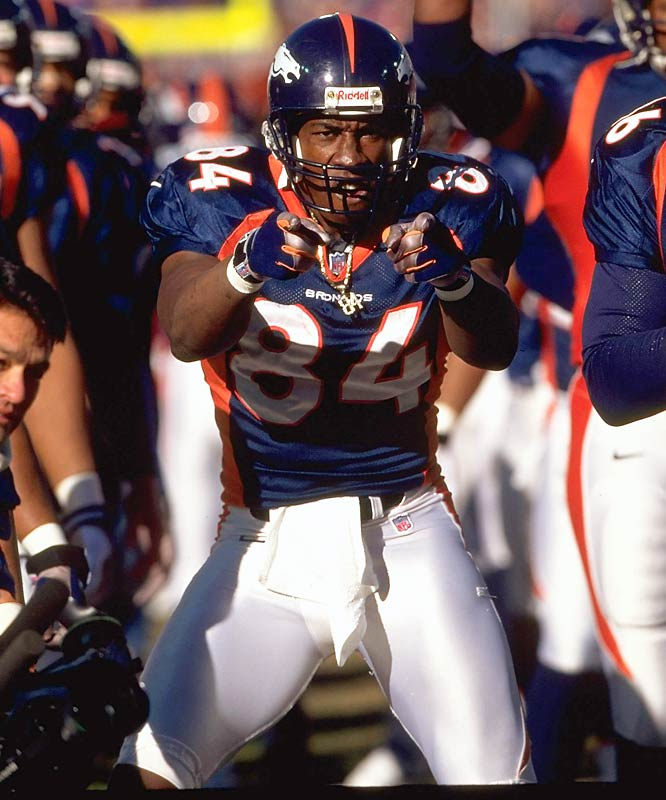 Motor-mouthed member of the Broncos (12 seasons) and Ravens (two), Sharpe earned first-team NFL All-Decade honors for the 1990s. The eight-time Pro Bowl pick is the league's all-time leader in receptions (815), yards (10,060) and TDs (62) by a tight end.<br><br>Runner-up: Sterling Sharpe.<br><br>Worthy of consideration: Randy Moss.