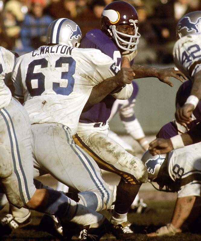 Hall of Fame defensive tackle was a mainstay of the Vikings' feared Purple People Eaters defense. Page played in four Super Bowls and was the NFL MVP in 1971 as well the Defensive Player of Year in  `71 and `73.<br><br>Runner-up: Marvin Harrison.<br><br>Worthy of consideration: Lynn Swann, Eric Lindros, Michael Irvin, Dale Jarrett.