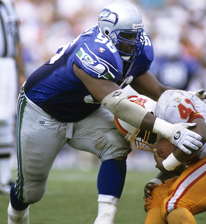 A mountain of a man (6-3, 306) who could really motor, the seven-time Pro Bowl defensive tackle spent his entire 11-year career with the Seattle Seahawks, winning 1992 NFL Defensive Player of the Year honors. <br><br>Runner-up: Pavel Bure.<br><br>Worthy of consideration: Bill Voiselle.