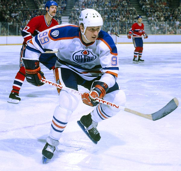The Great One owns 61 NHL scoring records, among them career goals (1,016 including playoffs) and points (3,238), plus 10 scoring titles, nine Hart trophies (MVP) and four Stanley Cups. Convinced yet?<br><br>Runner-up: George Mikan.Worthy of consideration: Warren Sapp, Rick Vaughn (Charlie Sheen in Major League).