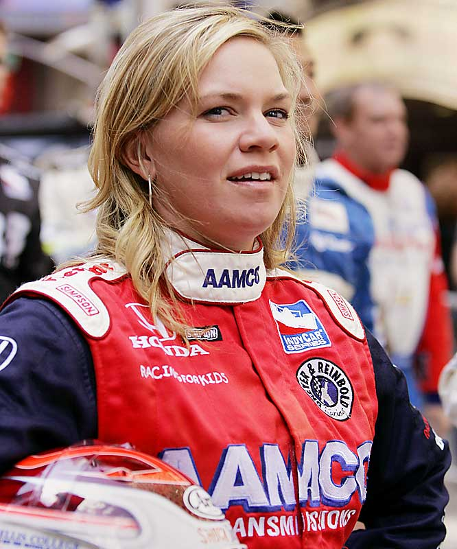 Fisher was the first woman to race full-time on an Indy-style circuit. She became the first woman to win the pole in a major auto racing series at Kentucky Speedway in 2002. Her second at Homestead-Miami Speedway is the best finish by a woman in an Indy-style race.