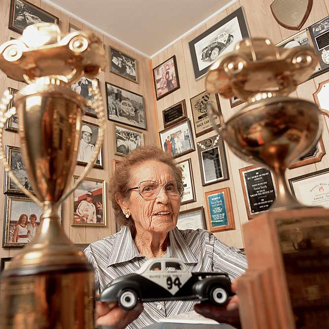 Smith raced modifieds at local tracks before she entered 11 NASCAR races in 1949 and 1950. A fan favorite because of hard-charging style, she won 38 modified races in 11 seasons.