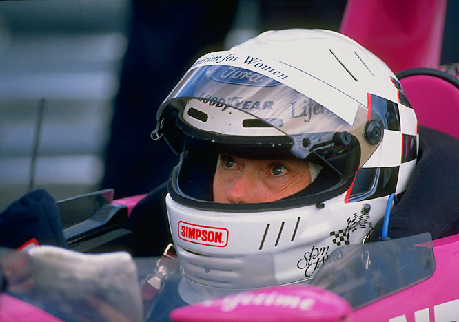 St. James was the second woman to race in the Indy 500 and the first to win rookie of the year when she finished 11th in 1992. She raced at Indy seven times.