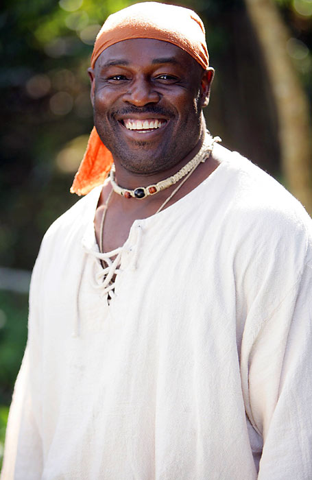 Okoye played for the Chiefs as an NFL running back from 1987-92, but on this show he was more like an Oakland Raider as part of crew that sought lost treasures in the Caribbean. The crew played the role of the turk, cutting the Nigerian Nightmare loose in the second episode. Maybe CBS can cast Barry Word in season two.