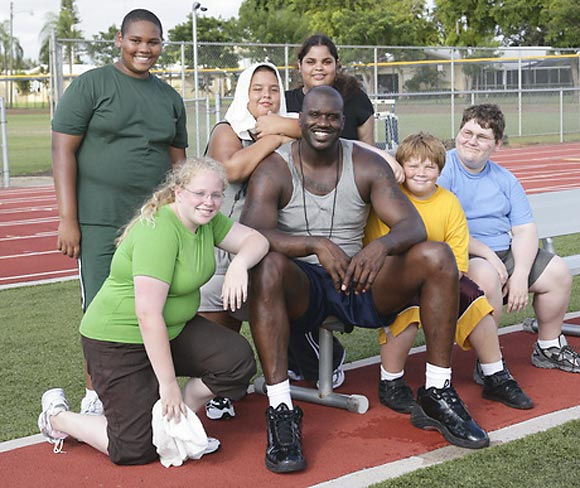 Shaq helped kids lose weight as a way to draw attention to the growing problem of childhood obesity in the U.S.