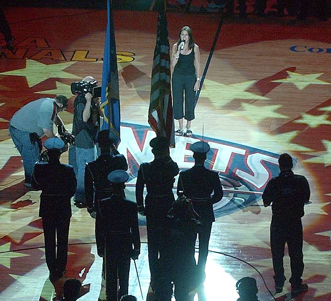 Sigler sang the national anthem prior to Game 3 of the Spurs-Nets NBA Finals in 2003. Alas, the Nets were taken by the Spurs in six games.