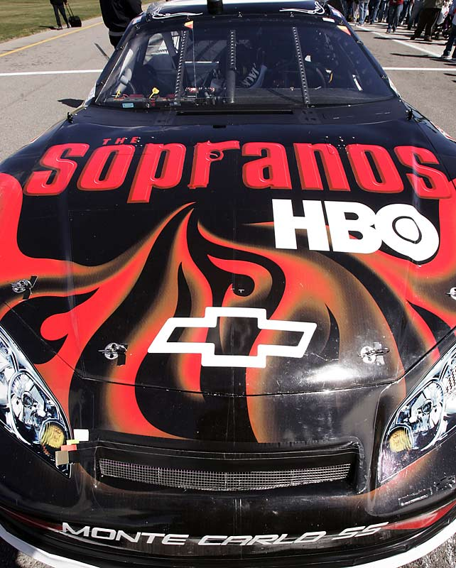 "The Richard Childress Racing No. 07 Nextel Cup Chevrolet sported a ""Sopranos"" paint scheme at the UAW-DaimlerChrysler 400 in Las Vegas in March 2006"
