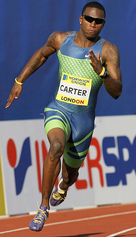 Carter passed up his final two years of college eligibility in football and track after winning four events at the 2006 NCAA Championships. The move paid off, as he recorded the second fastest 200 in history, 19.63 seconds, later in the year.