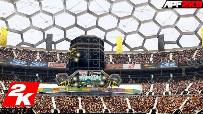 One benefit of not having an NFL license is the ability to riff on what a football stadium could look like. We're not sure fans in the real world would be comfortable sitting in front of a giant beehive but you have to think the concessions would be pretty sweet.