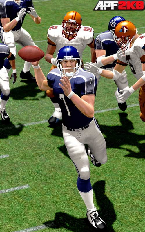 When EA purchased exclusive third-party video game rights for NFL teams and players, its competition was left out in the dark. At the time, 2K Sports' NFL2K series was considered by many fans the top dog over the Madden series. But without an NFL license, 2K was forced to back off football for several years. Now 2K is back with All-Pro Football 2K8 -- a game featuring former NFL greats playing on fictitious teams. <br><br>Will football fans embrace past NFL heroes and the new approach? We're not sure, but seeing John Elway back in action gives us a warm fuzzy. We were barely able digest the Broncos' new uniforms until they beat the Packers en route to back-to-back Super Bowl wins, so this blue and gray uniform is going to take some getting used to.