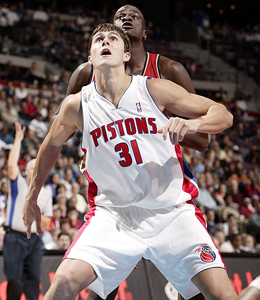 LeBron James, Milicic, Carmelo Anthony, Chris Bosh and Dwyane Wade -- which top five pick from 2003 doesn't belong? In fairness, the 28-year-old Milicic showed flashes of strong play. But overall, in ten seasons Milicic has averaged 6.0 points and 4.2 rebounds while playing for six teams. He played only 5 minutes with the Celtics in the 2012-13 season. Joe Dumars and the Pistons whiffed on this one.