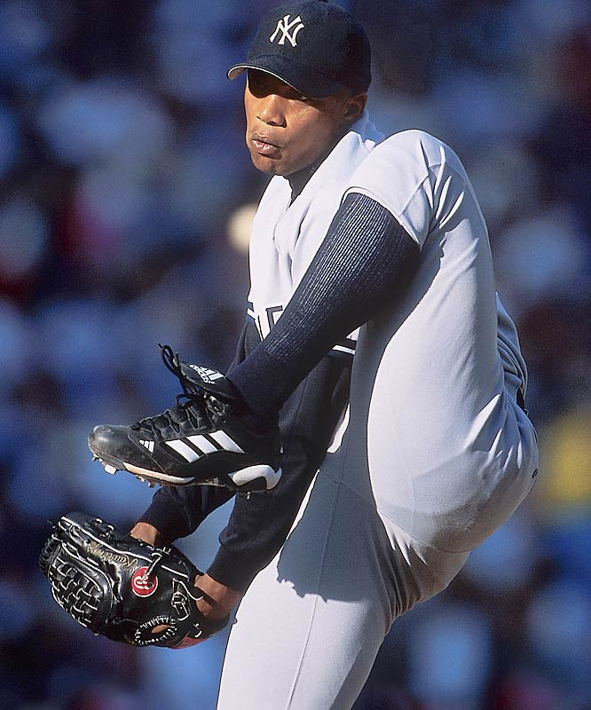Like his half-brother Liván, ''El Duque'' was one of Cuba's great pitchers. And like his <i>hermano</i>, he followed the same route to America by defecting in '95 -- he and seven others boarded a small boat and sailed toward the Caribbean island of Anguilla Cay. Declared a free agent after he established residency in Costa Rica, Hernández signed a four-year deal with the Yankees and became one of baseball's best postseason performers. He has won four World Series titles and is currently a starter with the Mets.