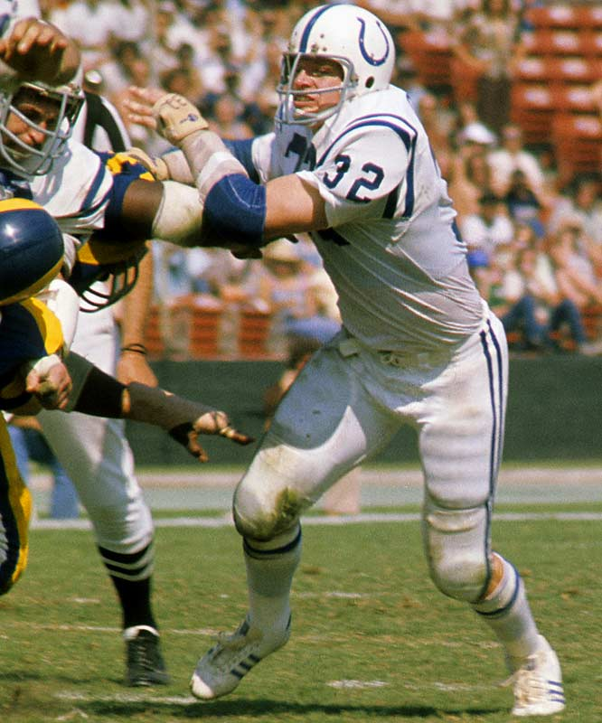 "1965-1975 Baltimore, 1976 Seattle <br><br>""I play football because it's the only place you can hit people and get away with it,"" Curtis once said. He got a reputation as a vicious player for unleashing brutal hits on the opposition, but took issue with the classification, saying he was aggressive, not vicious."