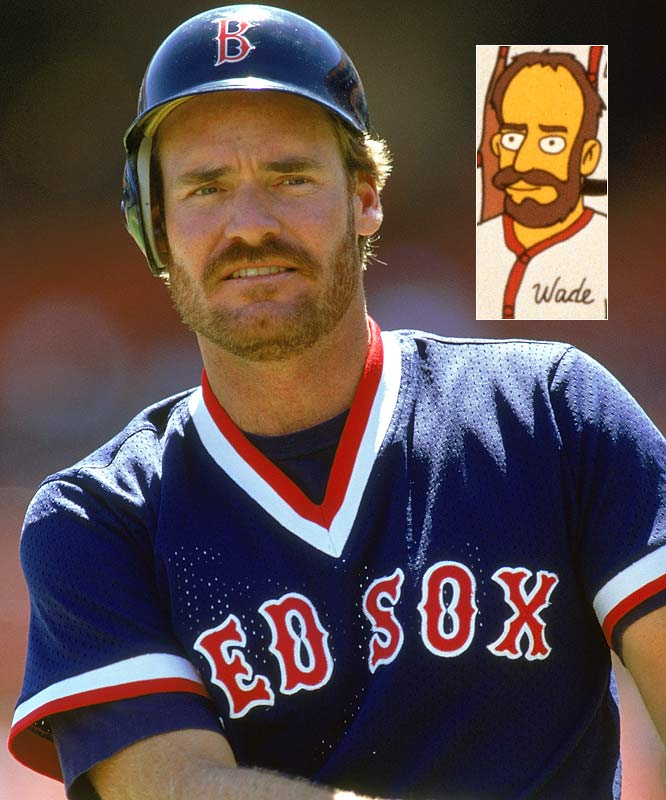 Episode: Homer at the Bat <br>First aired: Feb. 20, 1992 <br><br>Memorable moment: <br><br>Drinking at Moe's Tavern. <br><br>Barney: <i>And I say, England's greatest Prime Minister was Lord Palmerston!</i> <br>Wade Boggs: <i>Pitt the Elder!!</i> <br>Barney: <i>Lord Palmerston!!!</i> <br>Wade Boggs: <i>Pitt the Elder!!!!</i> [pokes Barney] <br>Barney: <i>Okay, you asked for it Boggs!</i> [punches him out]