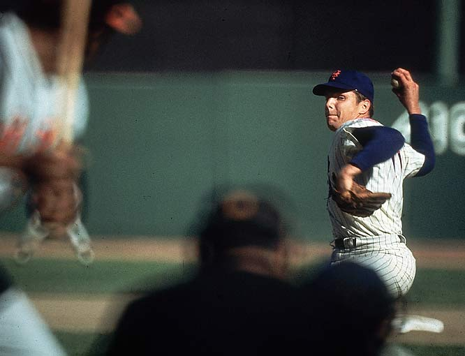 Seaver finished 25-7 with a 2.21 ERA in '69, winning the National League Cy Young Award.