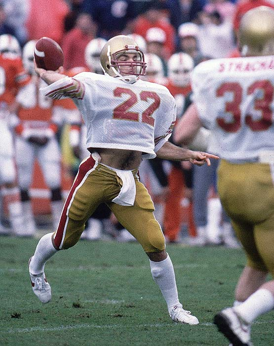 Doug Flutie's last-second, 48-yard touchdown pass to Gerard Phelan lifted the Eagles to a 47-45 win over Miami on Nov. 23, 1984, one of the most storied finishes in college football history.