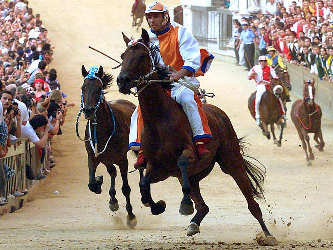 The Palio is a breakneck, bareback dash three times around Siena's main square.