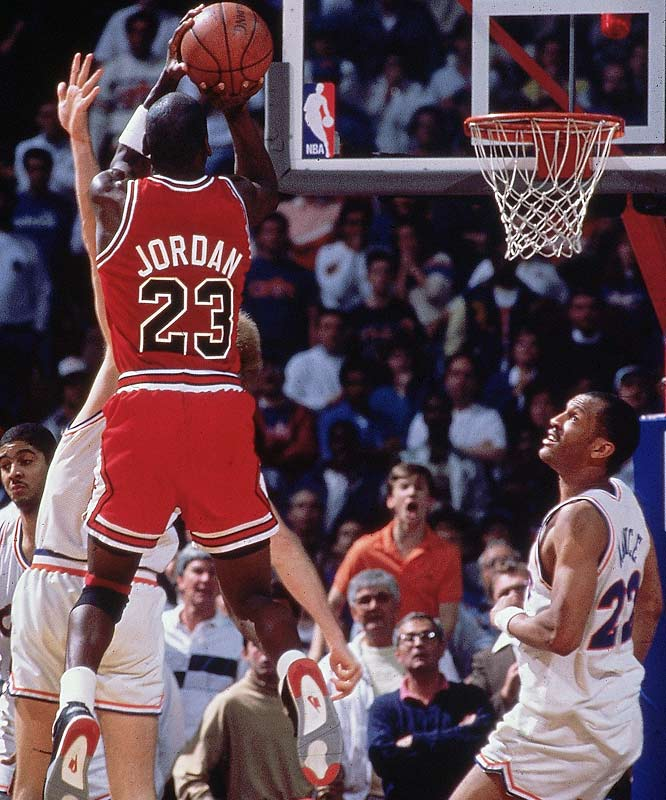 Jordan scored 44 points in Game 5 of the 1989 Eastern Conference first-round against the Cavs, including the final two baskets.