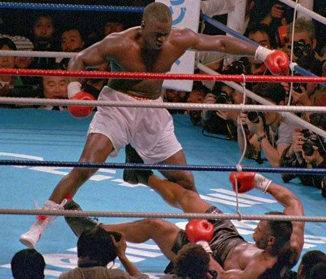 Buster Douglas was a 42-1 underdog when he knocked out undefeated Mike Tyson in the 10th round on Feb. 10, 1990, to win the heavyweight title in Tokyo.