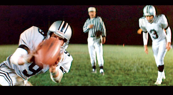 With somewhat less splash NDF demystifies the Dallas Cowboys the way Ball Four did the New York Yankees. The action is vivid and violent, the dialogue remains fresh, and pot-smoking, pill-popping, glue-fingered wide receiver Nolte is an All-Pro antihero.