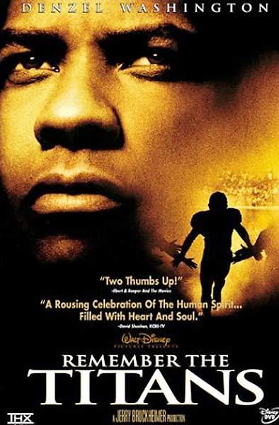 No cliche is overlooked in this fact-based Disney movie detailing the integration of a Virginia high school and its football team in 1971. But Washington (as the black coach put in charge) and Patton (as the white coach who has to swallow his pride) are terrific.