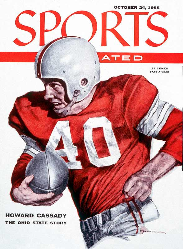 The two-way star was a consensus All-American in 1954 and 1955 and the winner of the 1955 Heisman Trophy. Cassady scored 37 touchdowns in just 36 games played as a Buckeye and never allowed a pass to be completed against him in four years in the defensive backfield.