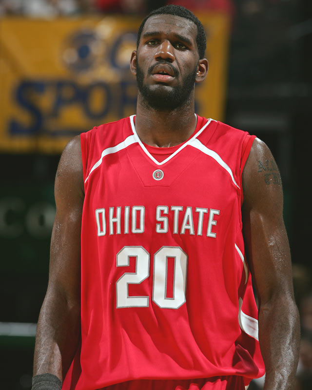 In his first and only college season, Oden became the face of the hoops revival in the football town of Columbus. Despite playing with an injured first, the future No. 1 pick became a first-team All-American, leading the Buckeyes to the Big Ten title and to the national championship game in the NCAA Tournament.
