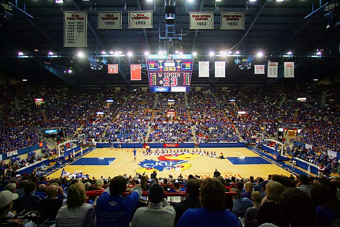 With college sports on summer vacation,  SIOC came up with our list of the Top 10 venues in college sports. We're sure you'll disagree, so please follow the link below to tell us what we got wrong. <br><br>With the arena named for legendary Kansas coach Phog Allen and the court named for James Naismith, Allen Fieldhouse is stepped in basketball history. The Rock Chalk Jayhawk chant before each game is one of the signature cheers in all of college sports.