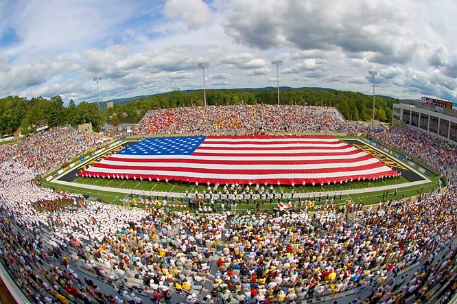 Army may no longer be a football powerhouse, but don't blame its venue. From the pregame cadet parade to the ear-shattering cannon blasts that reverberate throughout the 83-year-old stadium, Michie Stadium is still a must-see for any college football fan.