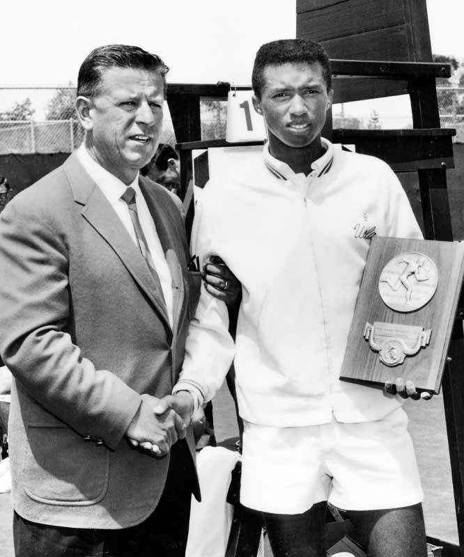Before he ruled the professional tennis tour, Ashe won the NCAA men's singles championship as a senior and led the Bruins to the team championship. He graduated in 1966 with a degree in business administration.