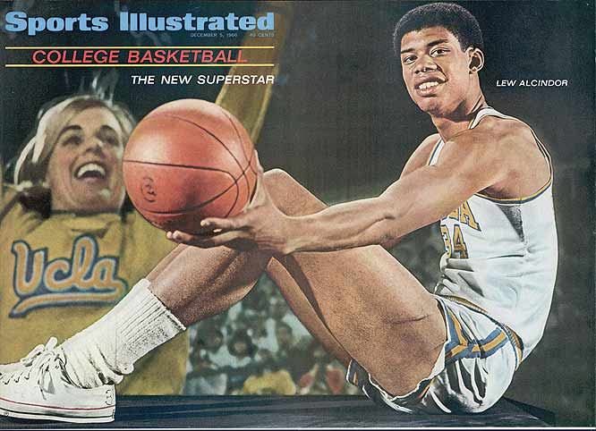 Alcindor (who had not yet changed his name to Kareem Abdul-Jabbar) was a three-time All-American while leading the Bruins to an 88-2 record and three national championships during his three years on varsity. After 1967, the dunk was banned in college basketball, in large part due to Alcindor's dominance.