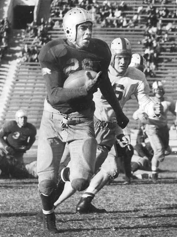 Although Robinson did not complete his senior year at UCLA due to financial reasons, he was the school's first athlete to letter in four sports: baseball, basketball, football and track.