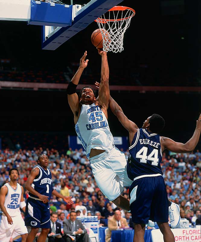 In 2001, Peppers won the Lombardi Award as the nation's top defensive lineman. His 30.5 sacks ranks second in UNC history, and he also was a member of the men's basketball team that reached the Final Four in 2000.