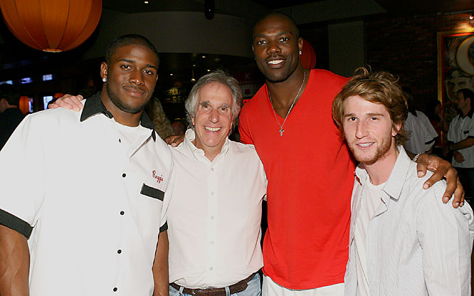Also at the same event were Reggie Bush, Terrell Owens, The Fonz and his son.