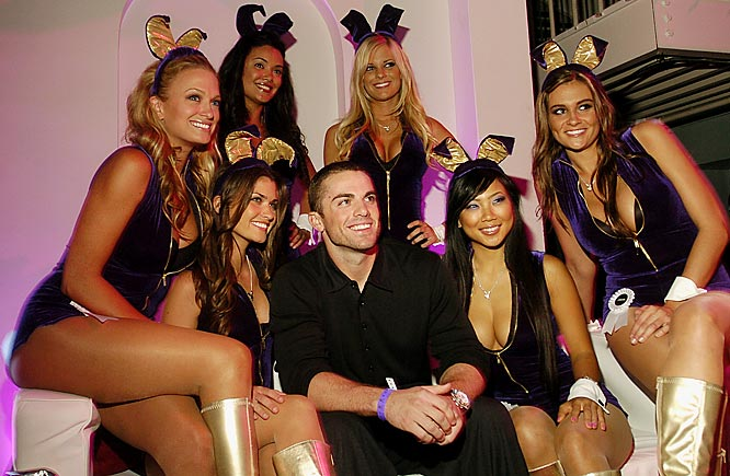 Mets third baseman David Wright also seemed to have a good time at the Playboy party.