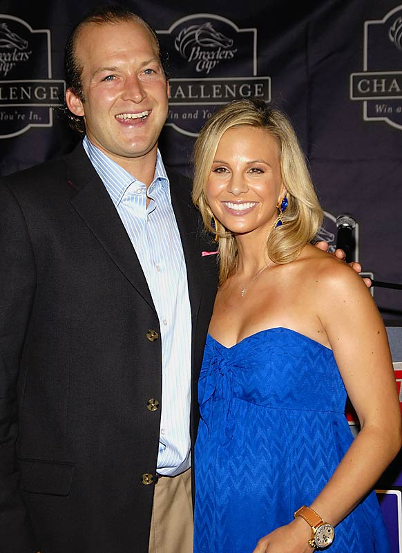 Giants backup quarterback Tim Hasselbeck and his wife, Elisabeth (the annoying and kinda crazy View co-host), appeared at this week's 2007 Breeders Cup Challenge Kickoff Press Conference.