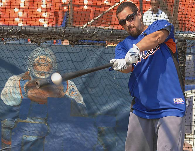 Now that 49-year-old Julio Franco is off the team, the Mets are looking at a variety of people, including Adam Sandler, to fill their pinch-hitter role.