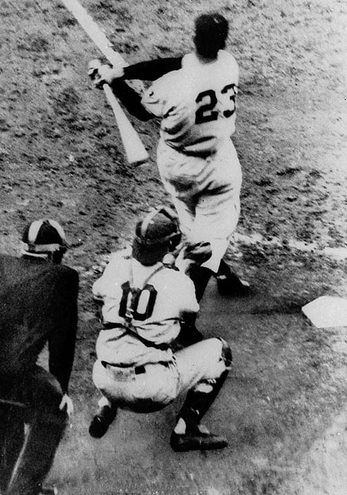 In 2001, the Wall Street Journal quoted players from the 1951 pennant-winning team saying they stole catchers' signs to overcome a 13 1/2-game deficit. Coach Herman Franks would identify the sign from the center field-clubhouse and set off a buzzer to identify the next pitch. A relay man would then signal the hitter with what to expect, and the rest, as they say, is history.