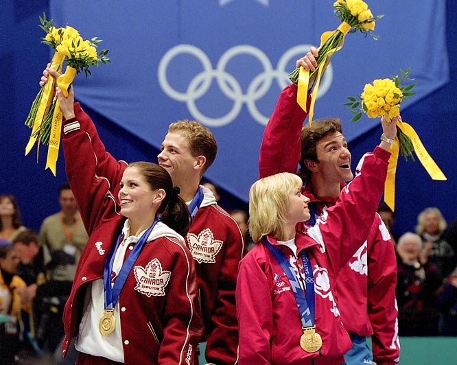 An alleged vote-trading scheme between the Russian and French officials was uncovered at the 2002 Salt Lake City Winter Olympics after Russians Elena Berezhnaya and Anton Sikharulidze won gold, though many experts said Canadians Jamie Salé and David Pelletier skated better. The International Olympic Committee awarded a second gold medal to the Canadian pair after French judge Marie-Reine Le Gougne disclosed that the French federation pressured her to put the Russians first. Both Le Gougne and French ice federation president Didier Gailhaguet were suspended for three years and banned from the '06 games.