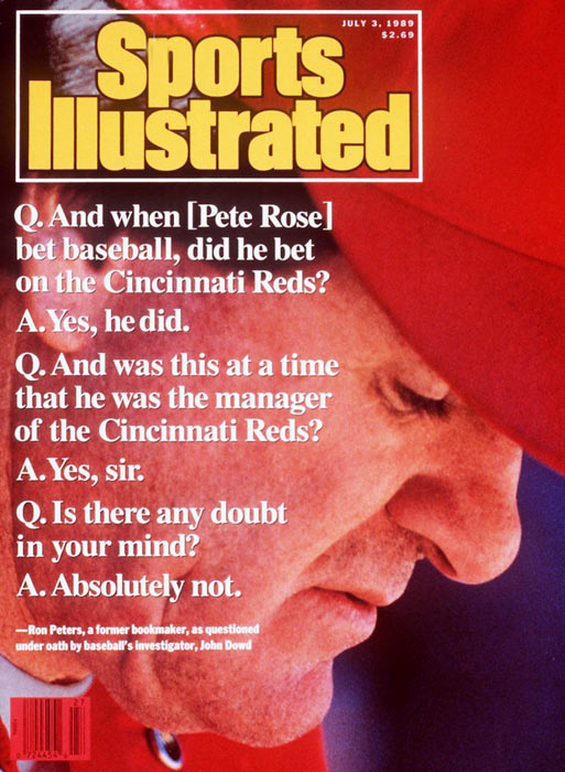 Baseball's all-time hit king was banished from the game for betting on baseball and denied wrongdoing for years. Though Rose maintains he never bet against the Reds, he broke baseball's cardinal rule and sacrificed the integrity of the sport. For that he is permanently ineligible for a return to baseball or the Hall of Fame.