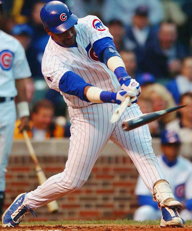 Sosa's bat exploded against the Devil Rays in 2003, and with it, so too did his reputation. He served a seven-game suspension for using a corked bat, though he maintained he had mistakenly taken his batting practice/exhibition bat to the plate. Some of Sosa's bats at the Hall of Fame were x-rayed and did not contain cork.