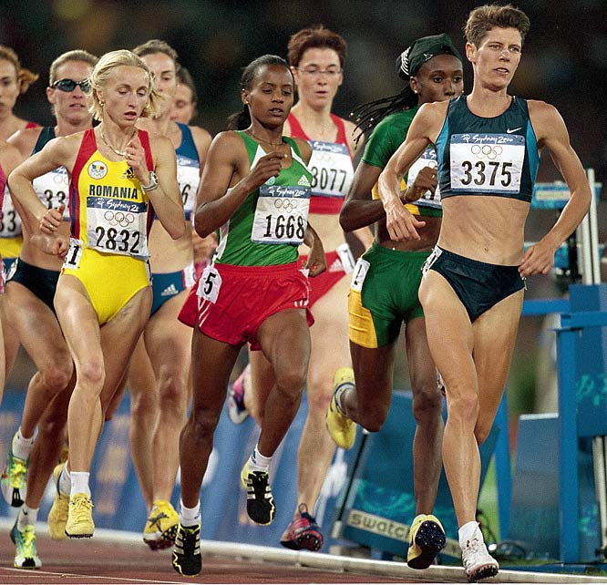 Diagnosed at 9 with Stargardt's disease (the leading cause of legal blindness in the U.S.), Runyan (#3375) became the first legally blind track and field athlete to compete in the Olympics when she ran in the 1,500 at the 2000 Sydney Games.