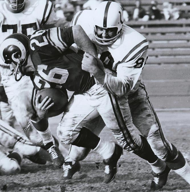 A vicious pass rusher who was named the top defensive end of the NFL's first 50 years, Marchetti was selected for a then-record 11 straight Pro Bowls and was All-NFL for nine years. He played 13 seasons for the Colts after one season in Dallas. Mike Ditka got the top spot for No. 89 but Marchetti, our runner-up choice, would also fit the bill.