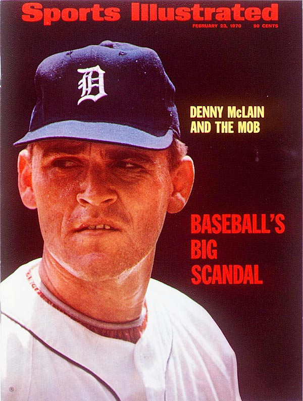 The 30-game winner for the 1968 World Series champion Detroit Tigers was hit by three suspensions in 1970. The first, handed down by MLB Commissioner Bowie Kuhn, was for involvement in a Michigan bookmaking operation. Later that season, McLain suffered a foot injury that was rumored to have been caused by a mob member who stomped the pitcher's toes while trying to collect a $46,000 gambling debt.