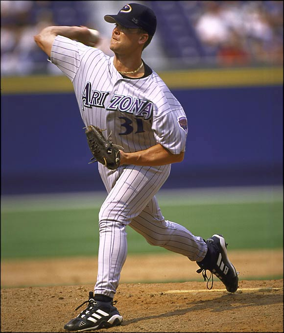 Arizona had all the makings of a playoff team in '99 with one exception: It needed a closer. The Marlins obliged by sending the Ice Man to the desert, where he saved 22 games in 30 appearances and helped the D'backs win the NL West. The pitcher the Marlins got in return, Brad Penny, won two games for them in the 2003 World Series.